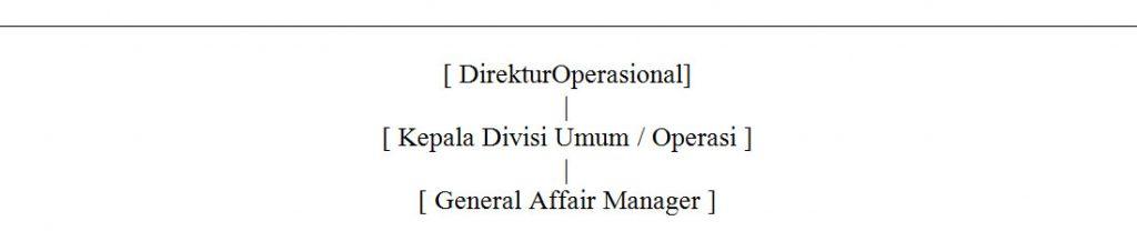 struktur organisasi GA