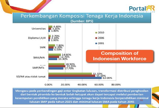 komposisi SDM Indonesia