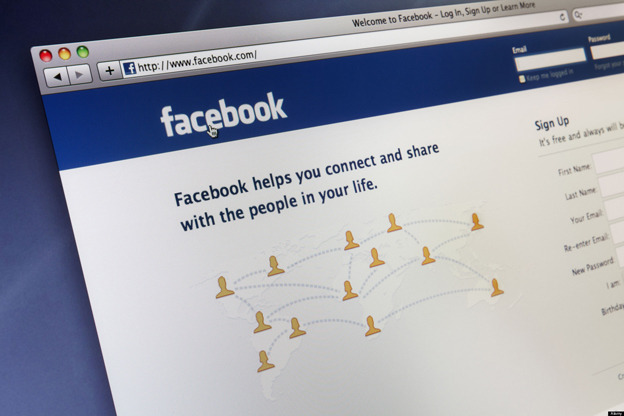 The social networking site Facebook's home page. Image shot 2011. Exact date unknown.