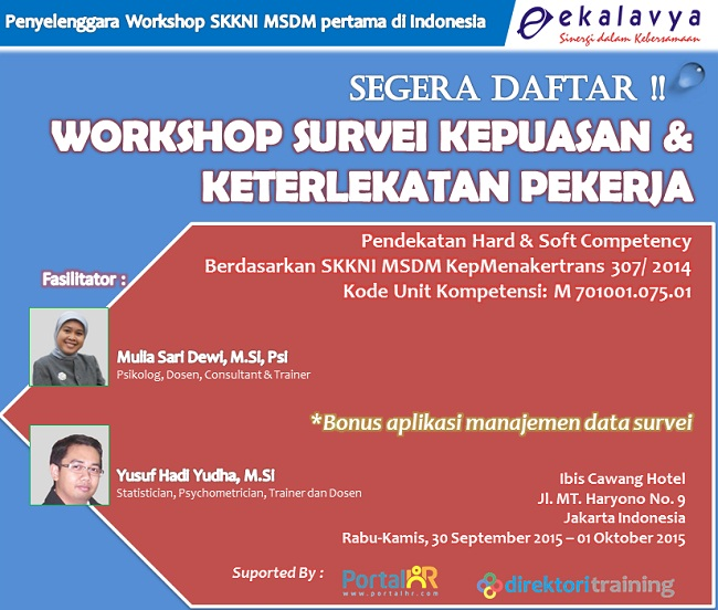Workshop Survei Kepuasan & Keterlekatan Pekerja Ekalvya Prima