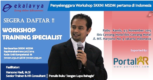 Workshop Training Specialist